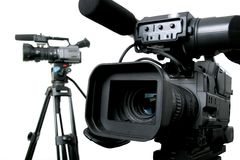 Two dv-camcorders Royalty Free Stock Photography