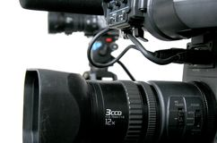 Two dv-camcorders Stock Photography