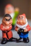 Two dwarf figurines Royalty Free Stock Photos