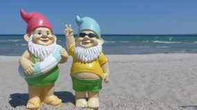 Two dwarfs  seaside Stock Images