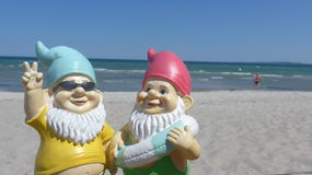 Two dwarfs  seaside Royalty Free Stock Photos