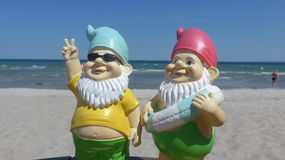 Two dwarfs  seaside Stock Image