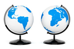Two Earth Desk Globe Stock Images