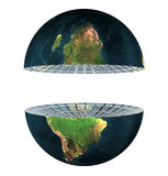 Two earth hemisphere isolated. On a white Stock Photos
