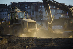 Two Earth Movers Royalty Free Stock Photo