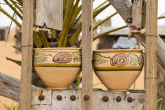 Two earthenware pots Royalty Free Stock Photo