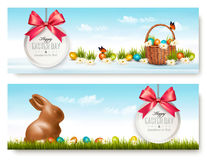 Two Easter banners. Vector Royalty Free Stock Image