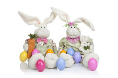 Two Easter Bunny Royalty Free Stock Photo