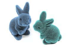 Two easter bunny`s royalty free stock photos