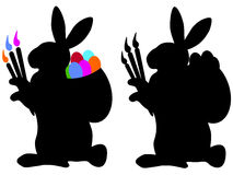 Two easter bunnys Royalty Free Stock Photography