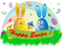 Two Easter eggs Royalty Free Stock Photos