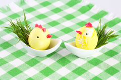 Two Easter eggs Royalty Free Stock Image