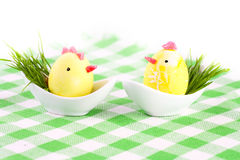Two Easter eggs Stock Photo