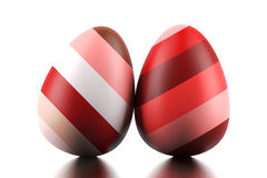 Two Easter eggs Royalty Free Stock Images