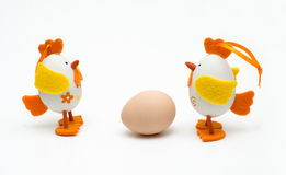 Two easter eggs arguing Stock Photography