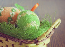 Two Easter eggs Stock Photography