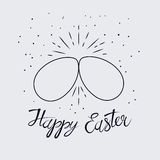 Two Easter eggs cracking each other Stock Image