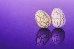 Two easter Eggs with cracks Royalty Free Stock Image