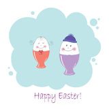 Two Easter eggs Royalty Free Stock Photography