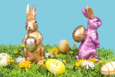Two easter rabbit Stock Photography