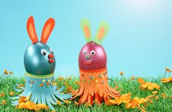 Two easter rabbits Royalty Free Stock Photography