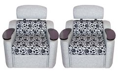 Two easy modern chairs Royalty Free Stock Photo