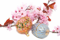 Two egg boxes for jewelery Stock Image