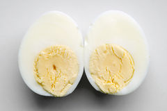 Two egg halves Stock Photos