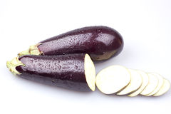 Two egg plants Royalty Free Stock Photos