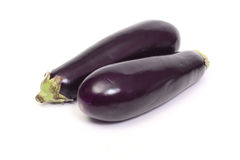 Two eggplant. Isolated on white Royalty Free Stock Photo