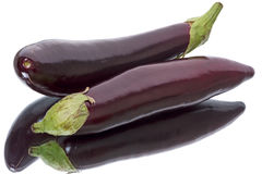 Two eggplant Royalty Free Stock Images