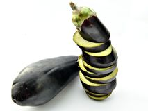 Two eggplants Stock Images