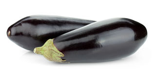 Two eggplants Stock Photos