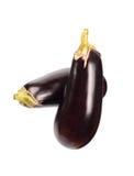 Two eggplants Stock Photos