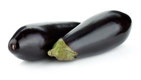 Two eggplants Royalty Free Stock Photos