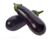 Two eggplants Royalty Free Stock Image