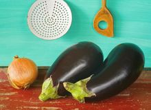 Two eggplants Stock Image