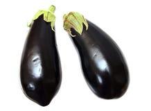 Two eggplants Royalty Free Stock Photo