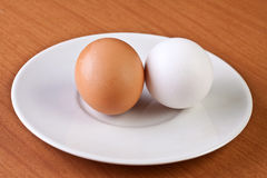 Two eggs Stock Photos