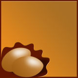 Two eggs background. Abstract background with two eggs for Easter Stock Images