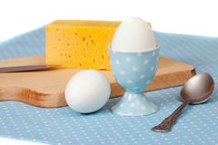 Two eggs with cheese Stock Photography
