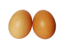 Two eggs isolated Stock Photos