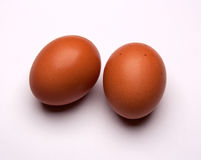 Two eggs isolated on white background Stock Image