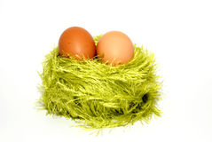Two eggs in a jack Royalty Free Stock Image