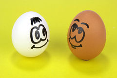 Two eggs smiley face Royalty Free Stock Photography