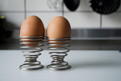 Two eggs in a spiral cup Royalty Free Stock Photo