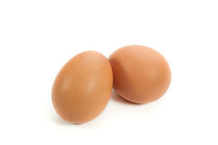 Two Eggs . Two Eggs  on white background Stock Photo