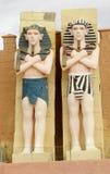Two Egyptian men statue Royalty Free Stock Photos