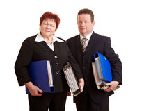 Two elderly business people Royalty Free Stock Image