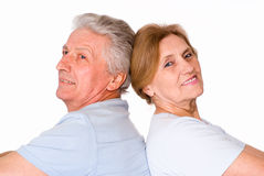 Two elderly people Stock Photos